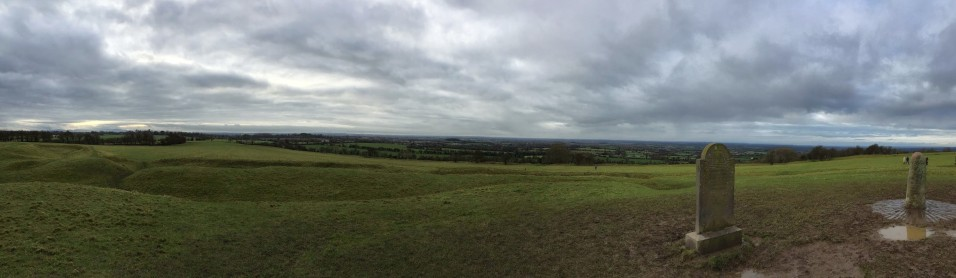 Hill of Tara, home of the ancient High Kings of Ireland from 500 BC to 500 AD. A passage tomb on the site dates back to the Stone Age, 4,500 years ago.
