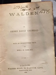 W.B. Yeats' copy of Thoreau's Walden. Housed at the Yeats exhibit at the National Library of Ireland.