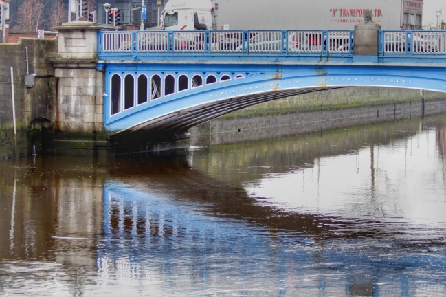 Rory O'More Bridge, opened in 1863. River Liffey, Dublin.