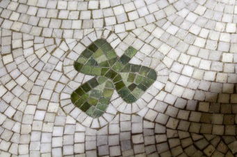 Shamrock detail on the floor of Daniel O'Connell's tomb at Glasnevin Cemetery.